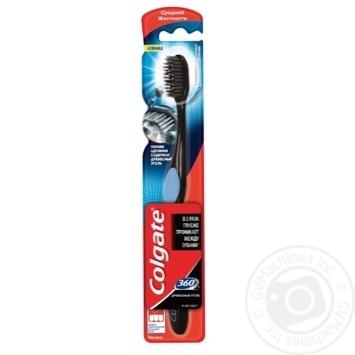 Зубна щітка Colgate 360 Деревне вугілля середньої жорсткості - купити, ціни на Восторг - фото 5