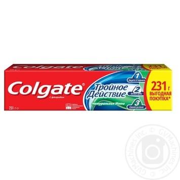 Зубная паста Colgate Тройное Действие Натуральная мята 150мл - купить, цены на Таврия В - фото 7