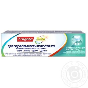 Зубная паста Colgate Total 12 Профессиональная чистка (гель) комплексная антибактериальная 75мл - купить, цены на Фуршет - фото 8