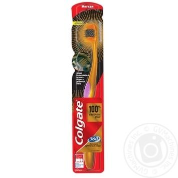 Зубна щітка Colgate 360 Золота з деревним вугіллям багатофункціональна м'яка - купити, ціни на Ашан - фото 6