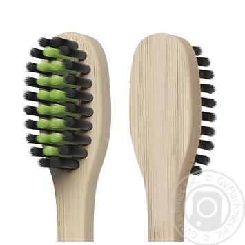 Зубна щітка Colgate Бамбук Деревне Вугілля проти бактерій чорна м'яка 2шт - купити, ціни на Восторг - фото 5