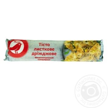 Тісто Ашан листково-дріжджове швидкозаморожене 1кг - купити, ціни на Ашан - фото 1