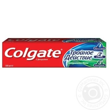 Colgate Triple Action Toothpaste 100ml - buy, prices for Auchan - photo 7