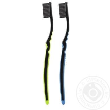 Зубна щітка Colgate шовкові нитки з деревним вугіллям м'яка 1+1 - купити, ціни на Восторг - фото 4