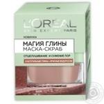 Маска-скраб для лица L'oreal Магия глины + водоросли 50мл