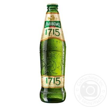 Пиво Львовское 1715 светлое пастеризованное 4,7%  0,45л