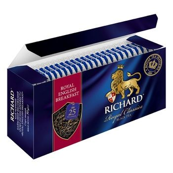 Richard Royal English Breakfast black tea 25pcs*2g - buy, prices for CityMarket - photo 4