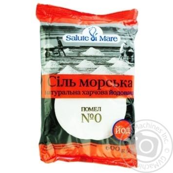 Соль Salute di Mare морская пищевая мелкая йодированная 600г - купить, цены на Восторг - фото 3