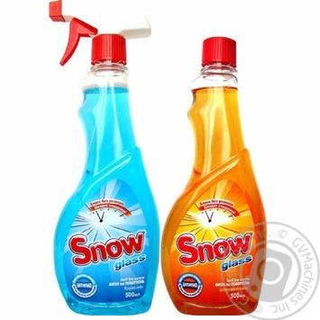Спрей для мытья стекол Snow Яркое небо 500мл + Цитрусовая свежесть 500мл - купить, цены на Ашан - фото 1