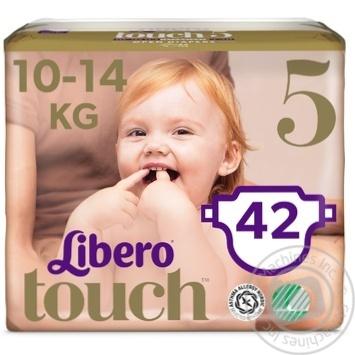 Підгузники Libero Touch 5 для дітей 10-14кг 42шт - купити, ціни на МегаМаркет - фото 3