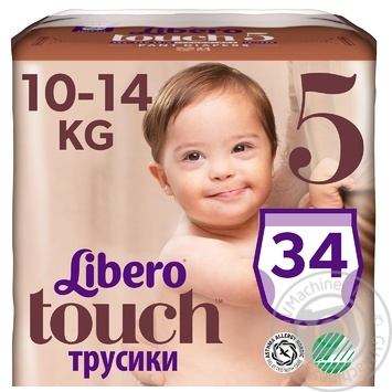 Подгузники-трусики Libero Touch 5 10-14кг 36шт - купить, цены на Восторг - фото 3