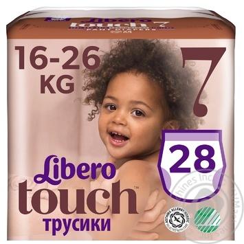 Подгузники-трусики Libero Touch 7 16-26кг 30шт - купить, цены на Восторг - фото 3