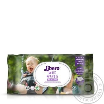 Салфетки влажные Libero Wet Wipes детские 64шт - купить, цены на Ашан - фото 2