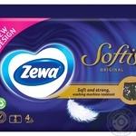 Платки носовые Zewa Softis 4 слоя 6 упаковок