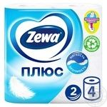 Zewa Plus White 2-Ply Toilet Paper 4pcs
