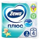 Туалетний папір Zewa Плюс океанська свіжість 2 шари 4шт