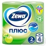 Zewa Plus Toilet paper apple flavor 2 layers 4pcs - buy, prices for Novus - image 1