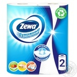 Zewa white 2-ply paper towel 2pcs - buy, prices for MegaMarket - image 1