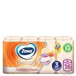 Туалетная бумага Zewa Deluxe Персик персиковая трехслойная 16шт