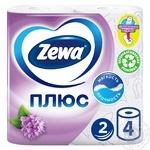 Туалетная бумага Zewa Плюс аромат сирени двухслойная 4шт