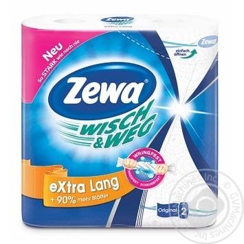 Zewa Wisch&Weg Kitchen Paper Towels 2rolls - buy, prices for MegaMarket - image 1
