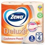 Туалетная бумага Zewa Deluxe Cashmere Peach 3-х слойный 4шт