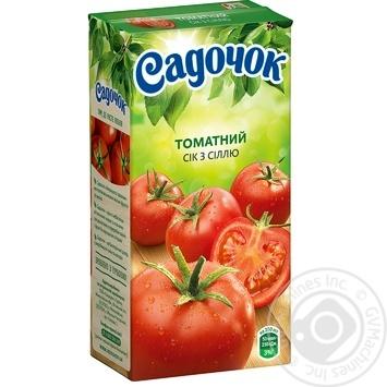 Сок Садочок томатный с солью 0,5л - купить, цены на ЕКО Маркет - фото 1