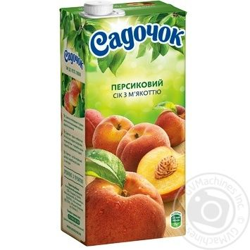 Сік Садочок персиковий 0,95л - купити, ціни на МегаМаркет - фото 1