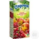 Морс Садочок Яблуко та журавлина 0,95л - купити, ціни на Ашан - фото 1