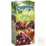 Нектар Садочок яблочно-виноградный из красных сортов 1,93л - купить, цены на Novus - фото 1