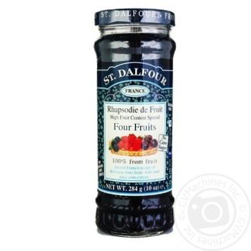 Джем Сент Далфур Чотири ягоди 284г Франція - купити, ціни на МегаМаркет - фото 1
