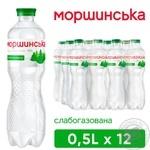 Вода Моршинська слабогазована 0,5л