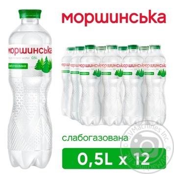 Вода Моршинська слабогазована 0,5л - купити, ціни на Метро - фото 1