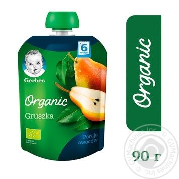 Gerber organic for children pear puree 90g - buy, prices for Auchan - photo 4