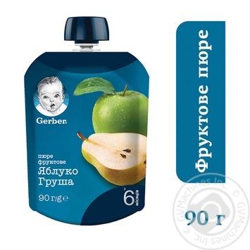 Пюре Gerber яблоко груша 90г - купить, цены на МегаМаркет - фото 3