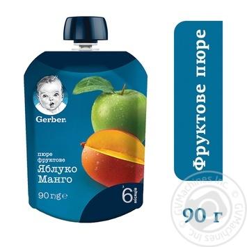 Пюре Gerber яблоко манго 90г - купить, цены на Метро - фото 2