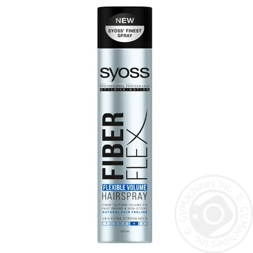 SYOSS Fiber Flex Flexible Volume Hairspray 400ml - buy, prices for Auchan - photo 1