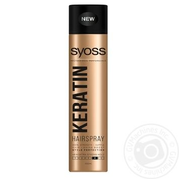 SYOSS Hairspray Keratin Extra Strong Fixation 400ml - buy, prices for Auchan - photo 3
