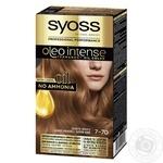 Крем-краска для волос Syoss Oleo Intense 7-70 Золотое Манго без аммиака - купить, цены на Ашан - фото 1