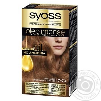 Краска для волос SYOSS Oleo Intense без аммиака золотое манго 7-70 - купить, цены на МегаМаркет - фото 1