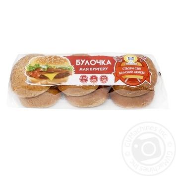 Булочки для бургера з кунжутом 6шт*50г - купить, цены на Ашан - фото 1
