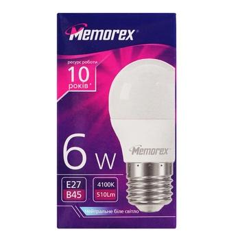 Memorex LED Lamp G45 6W E27 4100K - buy, prices for Auchan - photo 1