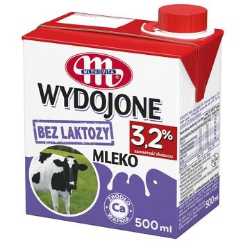 Молоко Mlekovita безлактозне ультрапастеризоване 3,2% 0,5л