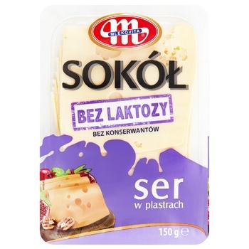 Сыр Mlekovita твердый сычужный Сокол без лактозы нарезанный 150г
