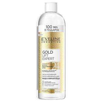 Eveline Cosmetics Gold Lift Expert Micellar water 3in1 for dry and mature skin 500ml - buy, prices for Auchan - photo 1