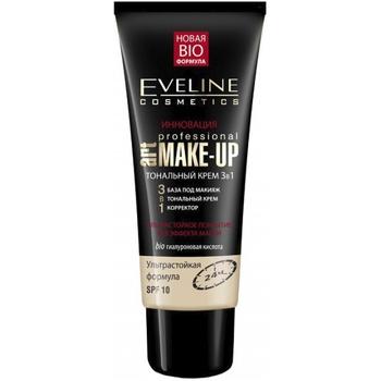 Крем тональный Eveline Professional Make-Up 3в1 пастельный 30мл - купить, цены на Ашан - фото 1