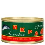 Икра лососевая Камчатская традиционная зернистая 120г ж/б