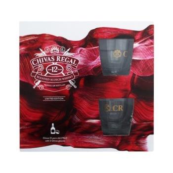 Віскі Chivas Regal 12 років 40% 0,7л + 2 склянки - купити, ціни на Ашан - фото 1