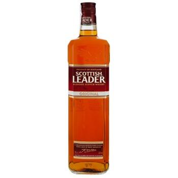 Виски Scottish Leader Original 40% 1л - купить, цены на Ашан - фото 3