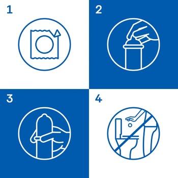 Презервативы Durex Pleasuremax латексные ребристые и точечные с накопителем и силиконовой смазкой 3шт - купить, цены на Ашан - фото 2